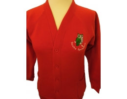 Farsley Springbank Cardigan Embroidered With Logo