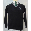 Horsforth School Black Jumper with 2 White Stripes