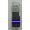 Fulneck Junior School Grey socks with Blue/Gold Hoops