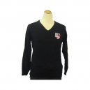 Lawnswood Boys Black jumper fine cotton with logo
