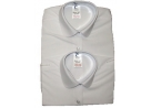 Twin Pack Girls Long Sleeved Katie Collar Blouses