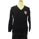 Lawnswood Girls Black jumper fine cotton with logo