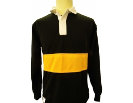 St Mary's Rugby shirt Black with Amber inner band