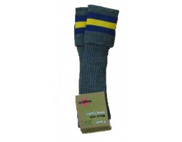 Moorlands Grey purple/Yellow  strip socks