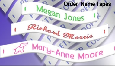 WOVEN, PRINTED OR PEEL NAME TAPES